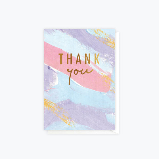 ELM Paper - Card - Thank You - Brushy Thank You Colour