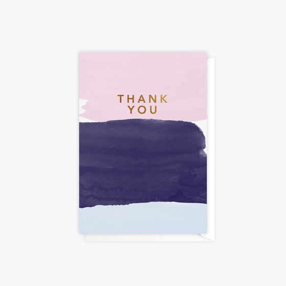 ELM Paper - Card - Thank You - Watercolour Thank You
