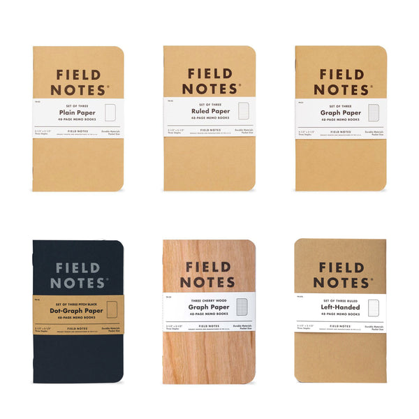 Field Notes (Sets of 3)