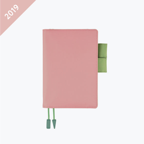 Hobonichi Techo - 2019 A6 Planner - Book+Cover - Sugar Rose