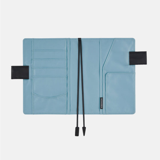 Hobonichi Techo - 2019 A6 Planner - Book+Cover - Black x Sky Blue