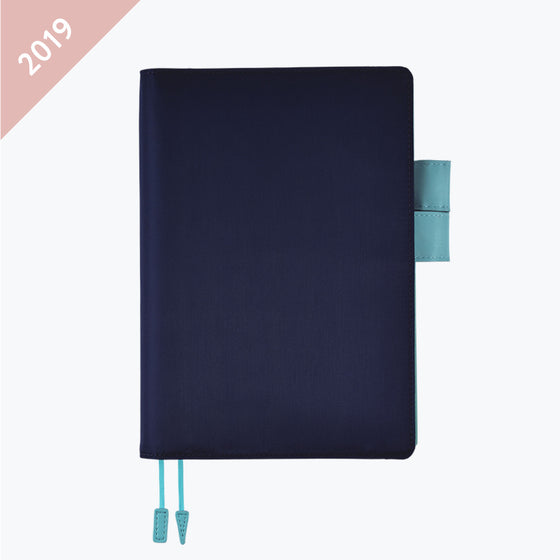 Hobonichi Techo - 2019 A5 Cousin Planner - Book+Cover - Dolphin Blue