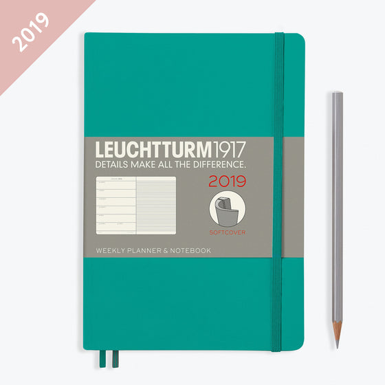 Leuchtturm1917 - 2019 Diary - A5 Weekly Notebook - Softcover - Emerald