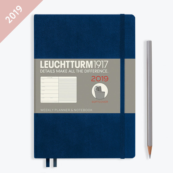 Leuchtturm1917 - 2019 Diary - A5 Weekly Notebook - Softcover - Navy