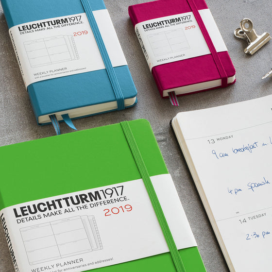 Leuchtturm1917 - 2019 Diary - A5 Weekly - Nordic Blue