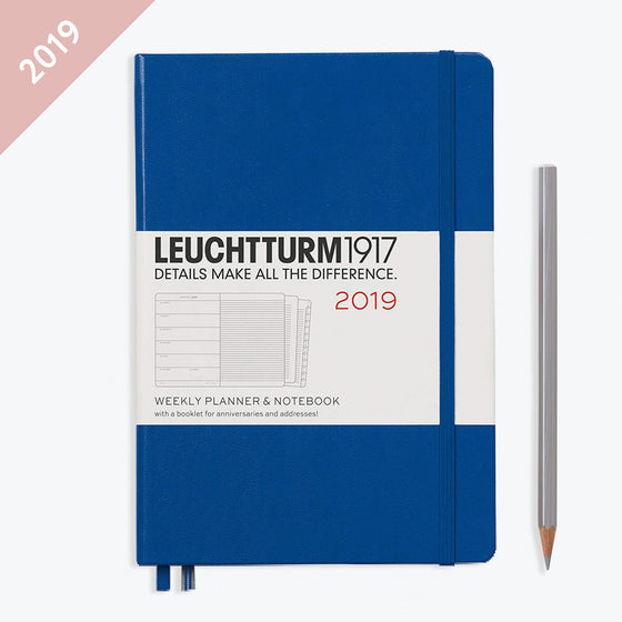 Leuchtturm1917 - 2019 Diary - A5 Weekly Notebook - Hardcover - Royal Blue