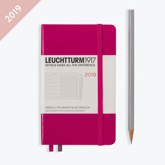 Leuchtturm1917 - 2019 Diary - A6 Weekly Notebook - Berry
