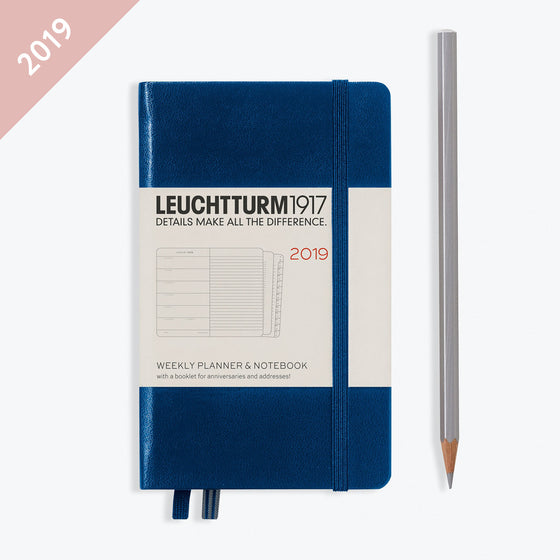 Leuchtturm1917 - 2019 Diary - A6 Weekly Notebook - Navy