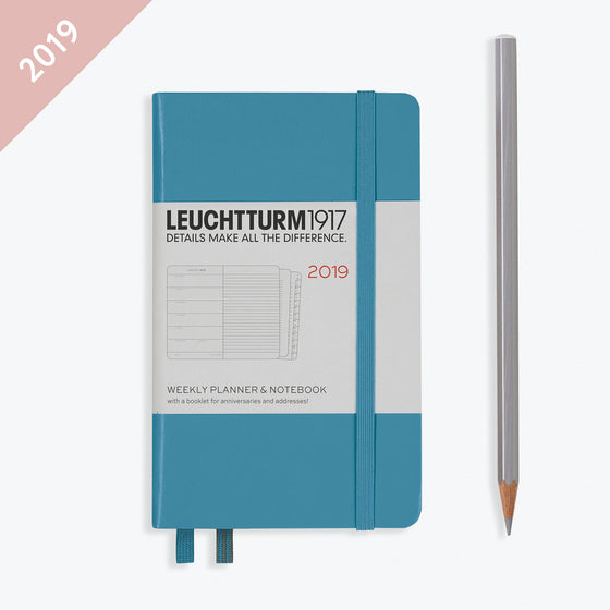 Leuchtturm1917 - 2019 Diary - A6 Weekly Notebook - Nordic Blue