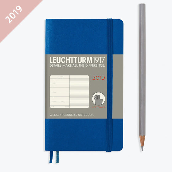 Leuchtturm1917 - 2019 Diary - A6 Weekly Notebook (SC) - Royal Blue