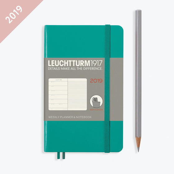 Leuchtturm1917 - 2019 Diary - A6 Weekly Notebook (SC) - Emerald