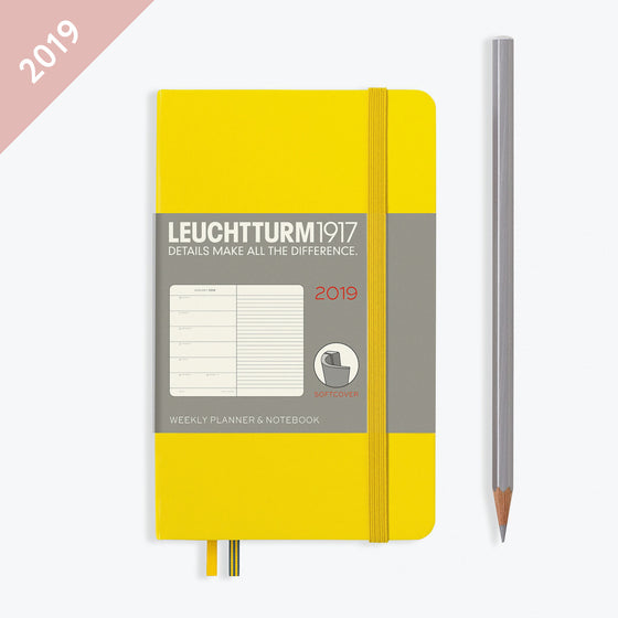 Leuchtturm1917 - 2019 Diary - A6 Weekly Notebook (SC) - Lemon