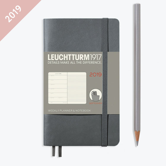 Leuchtturm1917 - 2019 Diary - A6 Weekly Notebook (SC) - Grey