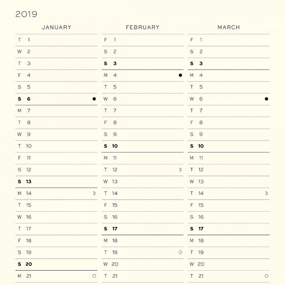 Leuchtturm1917 - 2019 Diary - B5 Monthly - Grey