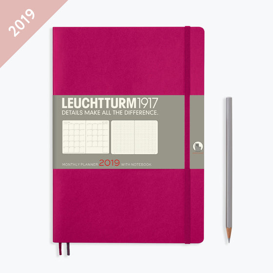 Leuchtturm1917 - 2019 Diary - B5 Monthly - Berry