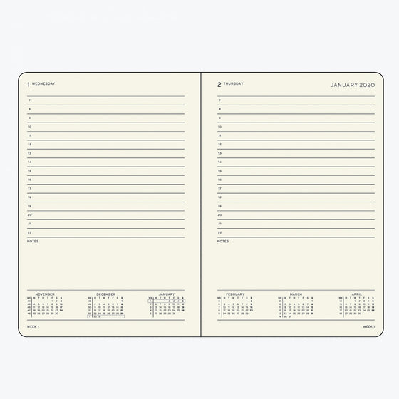 Leuchtturm1917 - 2020 Diary - Daily Planner - A5 - Pacific Green
