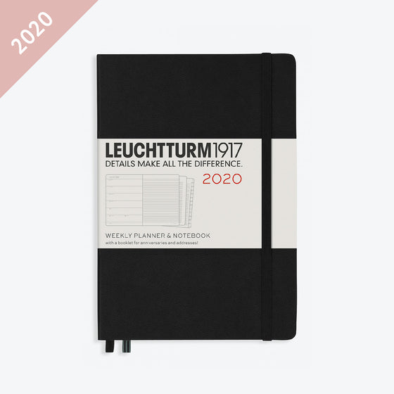 Leuchtturm1917 - 2020 Diary - Weekly Notebook - A5 - Black (Hard)