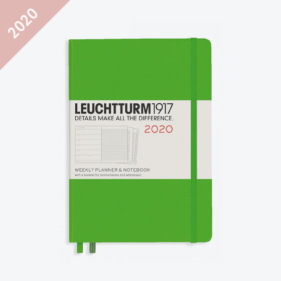 Leuchtturm1917 - 2020 Diary - Weekly Notebook - A5 - Fresh Green (Hard)