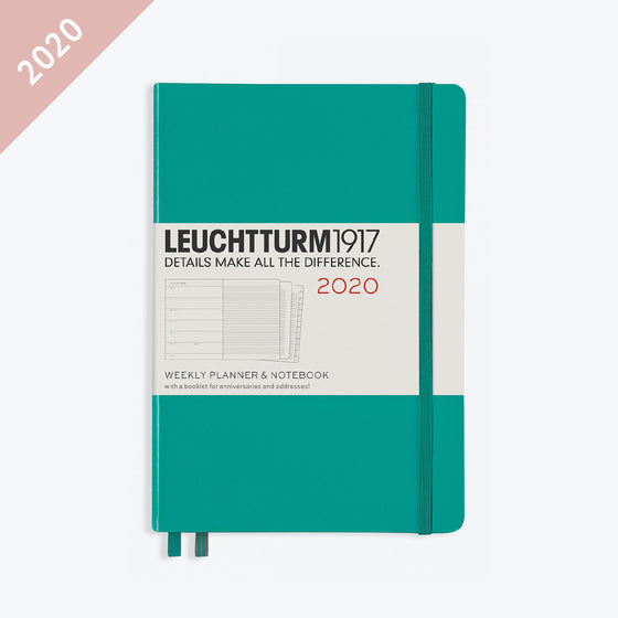 Leuchtturm1917 - 2020 Diary - Weekly Notebook - A5 - Emerald (Hard)