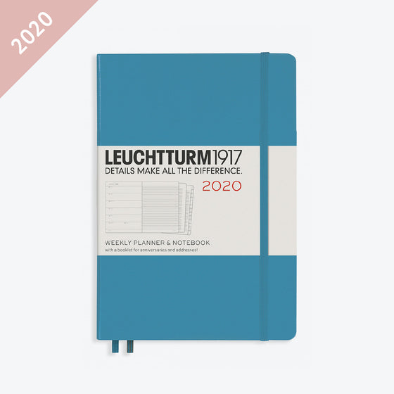 Leuchtturm1917 - 2020 Diary - Weekly Notebook - A5 - Nordic Blue (Hard)