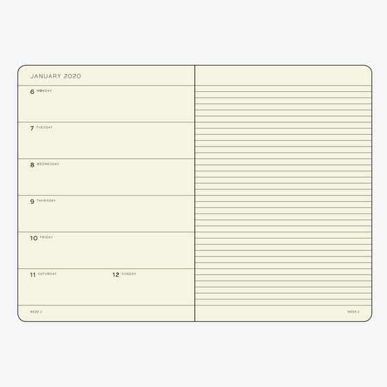 Leuchtturm1917 - 2020 Diary - Weekly Notebook - A5 - Silver (Hard)