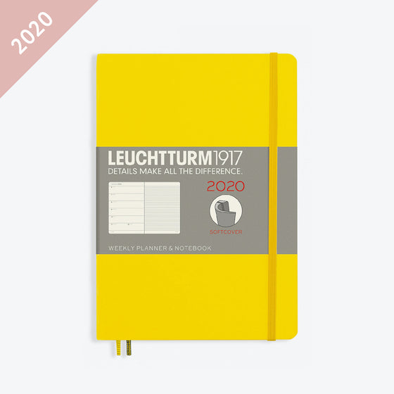 Leuchtturm1917 - 2020 Diary - Weekly Notebook - A5 - Lemon (Soft)