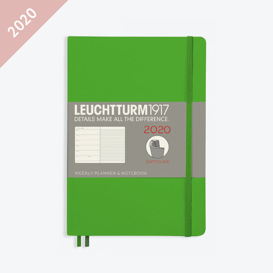 Leuchtturm1917 - 2020 Diary - Weekly Notebook - A5 - Fresh Green (Soft)