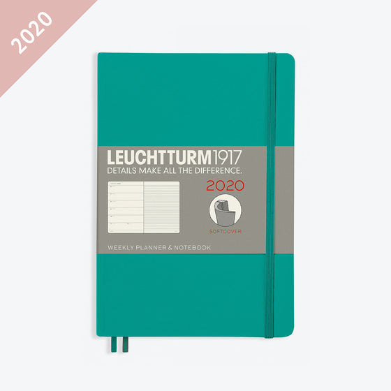 Leuchtturm1917 - 2020 Diary - Weekly Notebook - A5 - Emerald (Soft)