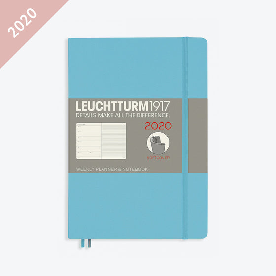 Leuchtturm1917 - 2020 Diary - Weekly Notebook - A5 - Ice Blue (Soft)