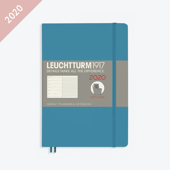 Leuchtturm1917 - 2020 Diary - Weekly Notebook - A5 - Nordic Blue (Soft)