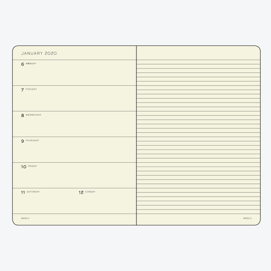 Leuchtturm1917 - 2020 Diary - Weekly Notebook - A5 - Royal (Soft)
