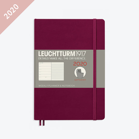 Leuchtturm1917 - 2020 Diary - Weekly Notebook - A5 - Port Red (Soft)