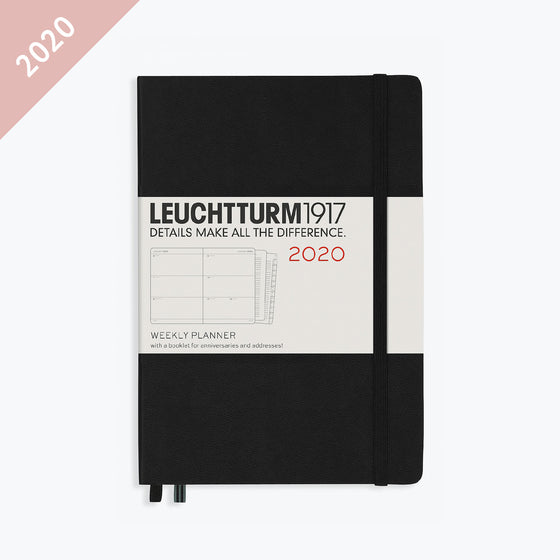 Leuchtturm1917 - 2020 Diary - Weekly Planner - A5 - Black