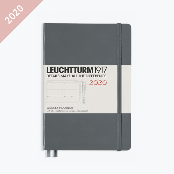 Leuchtturm1917 - 2020 Diary - Weekly Planner - A5 - Anthracite