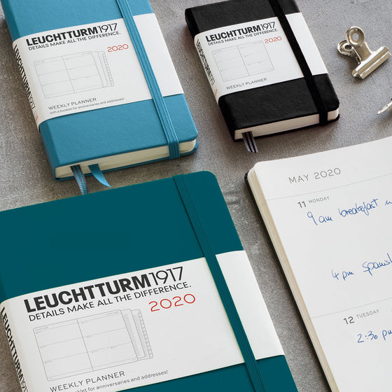 Leuchtturm1917 - 2020 Diary - Weekly Planner - A5 - Port Red