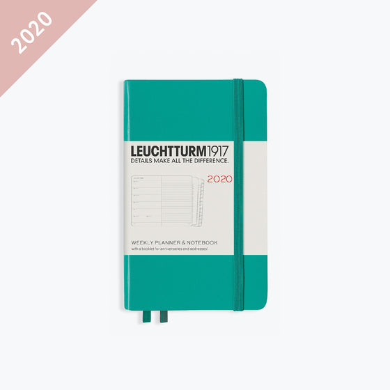 Leuchtturm1917 - 2020 Diary - Weekly Notebook - A6 - Emerald (Hard)