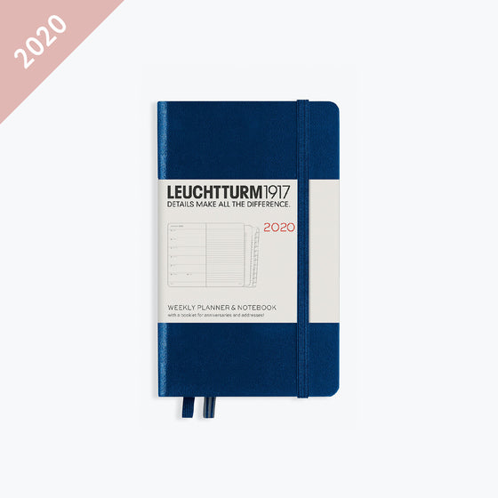 Leuchtturm1917 - 2020 Diary - Weekly Notebook - A6 - Navy (Hard)