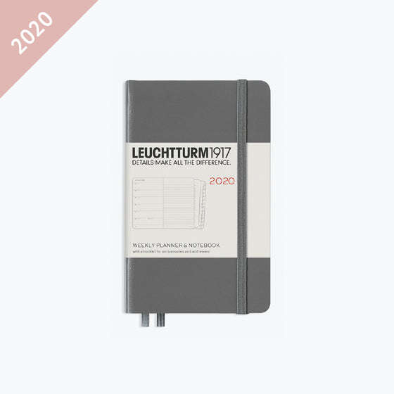 Leuchtturm1917 - 2020 Diary - Weekly Notebook - A6 - Anthracite (Hard)