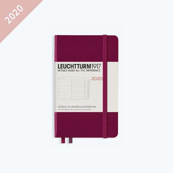 Leuchtturm1917 - 2020 Diary - Weekly Notebook - A6 - Port Red (Hard)