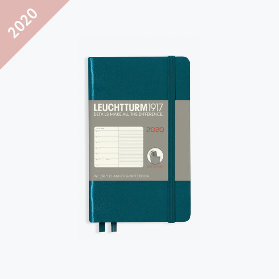 Leuchtturm1917 - 2020 Diary - Weekly Notebook - A6 - Pacific Green (Soft)