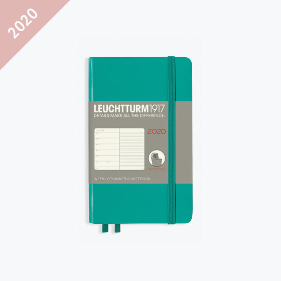 Leuchtturm1917 - 2020 Diary - Weekly Notebook - A6 - Emerald (Soft)