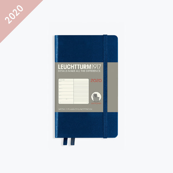 Leuchtturm1917 - 2020 Diary - Weekly Notebook - A6 - Navy (Soft)