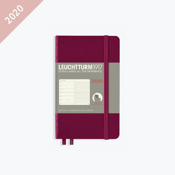 Leuchtturm1917 - 2020 Diary - Weekly Notebook - A6 - Port Red (Soft)