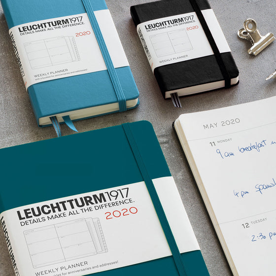 Leuchtturm1917 - 2020 Diary - Weekly Planner - A6 - Navy