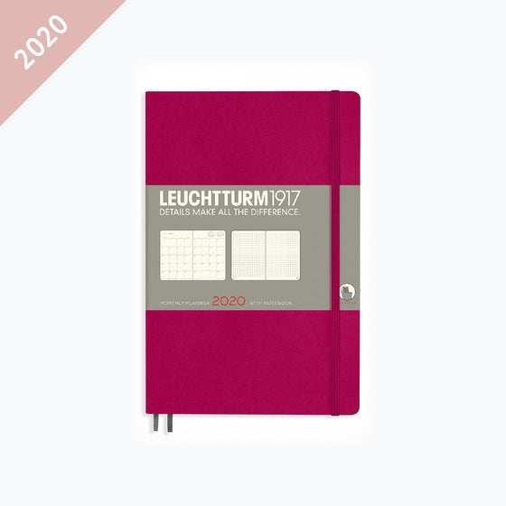 Leuchtturm1917 - 2020 Diary - Monthly Notebook - B6 - Berry