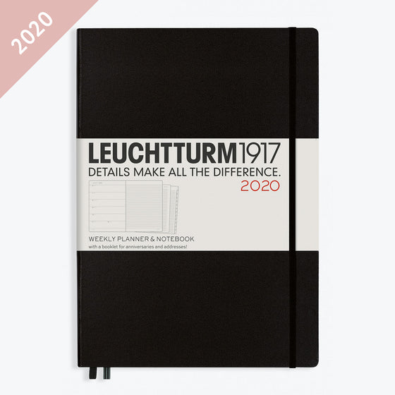 Leuchtturm1917 - 2020 Diary - Weekly Notebook - A4 - Black