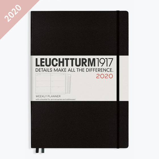 Leuchtturm1917 - 2020 Diary - Weekly Planner - A4 - Black
