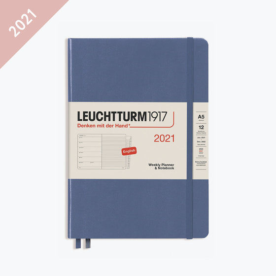Leuchtturm1917 - 2021 Diary - Weekly Notebook - A5 - Denim (Hard)