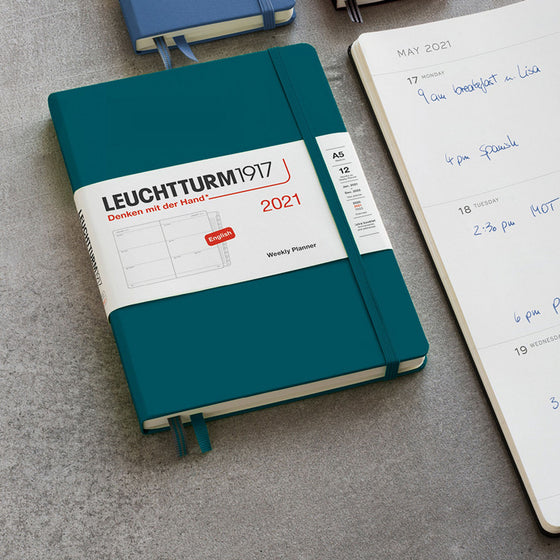 Leuchtturm1917 - 2021 Diary - Weekly Planner - A5 - Navy (Hard)