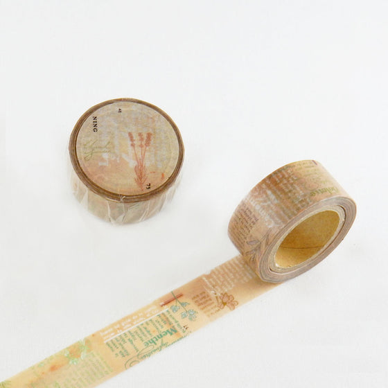 Round Top - Chamil Garden Design Washi Tape